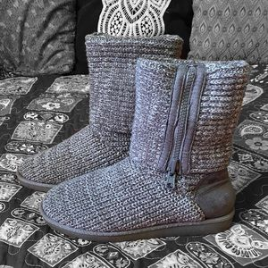 🖤 So knit grey boots